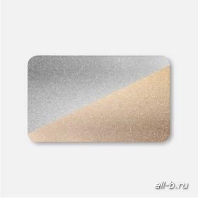 Горизонтальные жалюзи:25мм металлик серебро/золото
