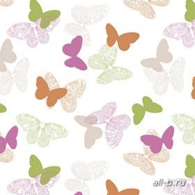 Рулонные шторы:БАБОЧКИ розовый