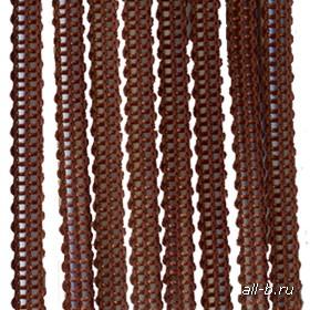 Вертикальные жалюзи бриз  (веревочные жалюзи):Бриз темно-коричневый